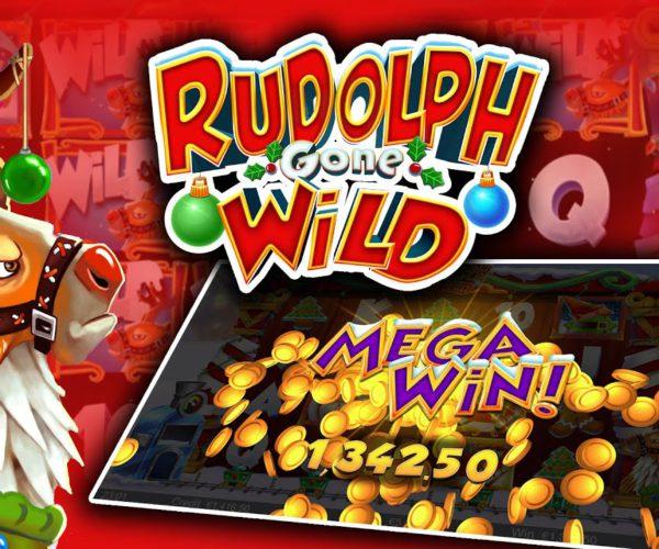 รีวิวสล็อตออนไลน์ Rudolph Gone Wild เกมส์คาสิโนออนไลน์